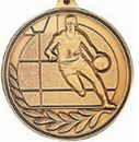 Custom 500 Series Stock Medal (Male Basketball Player) Gold, Silver, Bronze