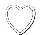 Custom Heart Notekeeper Magnet - 35 Mil Process Color (1 7/8