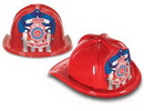 Custom Red Plastic Jr Firefighter Hats (CLOSE OUT)
