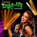 Custom Orange LED Foam Batons