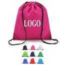 Custom 210D Polyester Drawstring Cinch Bags, 16