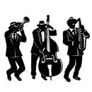 Custom Jazz Trio Silhouettes Cutouts, 18