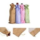 Custom Linen Wine Bag, 13 3/4