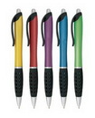 Custom Retractable Pen w/ Black Clip & Grip