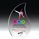 Custom Flame Award w/ Chrome Stand - Screen Print