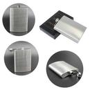Custom 8 oz Stainless Steel Flask, 3 5/8