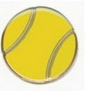 Custom Tennis Ball Sports Pin