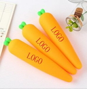 Custom Pencil Case Cute Carrot Cartoon Pen Bag, 8.7