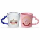 Coffee mug, 14 oz. Heart Handle Mug, Ceramic Mug, Personalised Mug, Custom Mug, Advertising Mug, 3.875