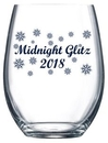 Custom 9 oz. Allure Sheer Rim Stemless Wine Glass, 2.9