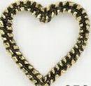 Custom Rippled Ribbon Cut Out Heart Stock Cast Pin