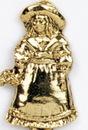 Custom Girl w/ Flowers Stock Cast Pin