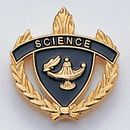 Blank Fully Modeled Epoxy Enameled Scholastic Award Pins (Science), 7/8