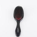 Custom Nature Bristle Hair Scalp Massage Comb With Plastic Handle, 8 4/5