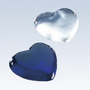 Custom Molten Glass Heart Paperweight, Dark Blue (3