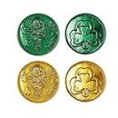 Custom Lucky Leprechaun Plastic Coins w/ Embossed Design, 1 1/2