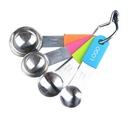Custom Stainless Steel Measuring Spoons with Silicone Handle
