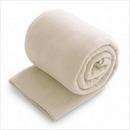 Custom Fleece Throw Blanket - Cream (50