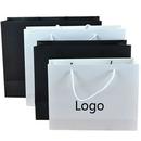 Custom Gloss White Cardboard Paper Bag, 17