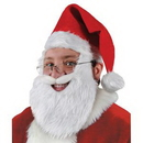 Custom Plush Santa Hat w/ Beard & Moustache