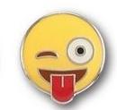 Blank Emoji Wink Pins, .75