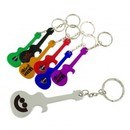Custom Guitar Bottle Opener w/Key Chain, 2 15/16