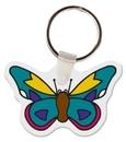 Gemini Custom Soft Vinyl Butterfly Key Tag, 2.35