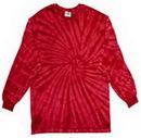 Custom Spider Red Longsleeve Tye Dye Shirt