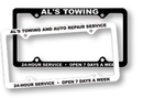 Custom License Plate Frame w/ 4 Holes - Spot Printed