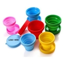 Custom Foldable Silicone Collapsible Cup, 3 1/8