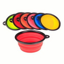 Custom Pet Silicone Folding Bowl With Carabiner Hook, 5 1/8