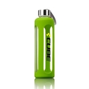 Custom The Pure Glass/Silicone Bottle - 17oz Lime Green, 2.625