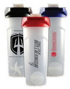 Custom 24 oz Frosted Shaker Bottle with Flip Top Lid and Shaker Ball, 9
