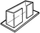 Custom Single Horizontal Counter Brochure Holders (6