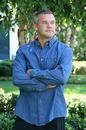 Custom Long Sleeve Stone Washed Denim Shirt (S-XL)