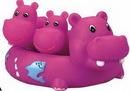 Custom Rubber Hippo Family