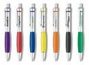Custom The Metal Collection Click Action Aluminum Ballpoint Pen w/ Rubber Grip