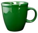 Custom 17 oz. Cancun Mocha Mug, Green, 4 1/4