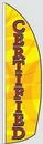 Custom 12' Poly-Knit Stock Feather Flag w/Pole Kit (Certified w/Yellow Background)