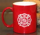 Custom Red Nuvo Coffee Mug, 3 13/16
