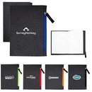 Custom G Line Zippered Notebook, 5.25