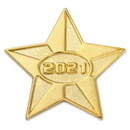 Custom 2021 Gold Star Pin, 1