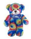 Custom Soft Plush Tie Dye Bear with Bandana 8