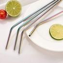 Custom Colorful Bent Metal Straws, 10.5 Inch Length, 0.25 Inch Diameter, 266*6MM, 0.25