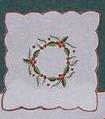 Christmas Wreath Coaster Napkin - 6