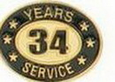 Custom Stock Die Struck Pin (34 Years Service)