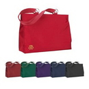 Custom This microfiber tote features chrome plated hardware and fashionable style., 18 1/2