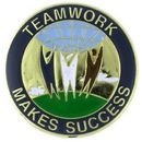 Custom Teamwork Makes Success Pin, 7/8