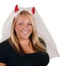 Custom Devil Horns Headband with Veil