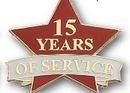 Custom 15 Years of Service Pin